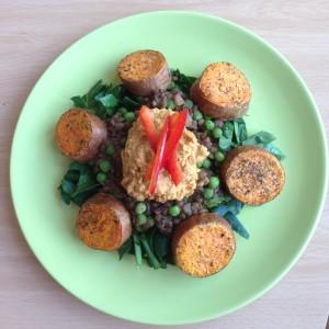 Linserøre med søtpotet og hummus (1)